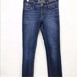 DL1961 Jeans Grace High Rise Straight Stretch